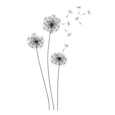 RoomMates 19 in. Black Whimsical Dandelion Peel and Stick Giant Wall Decals-RMK2606GM at  sc 1 st  Pinterest & RoomMates 19 in. Black Whimsical Dandelion Peel and Stick Giant Wall ...
