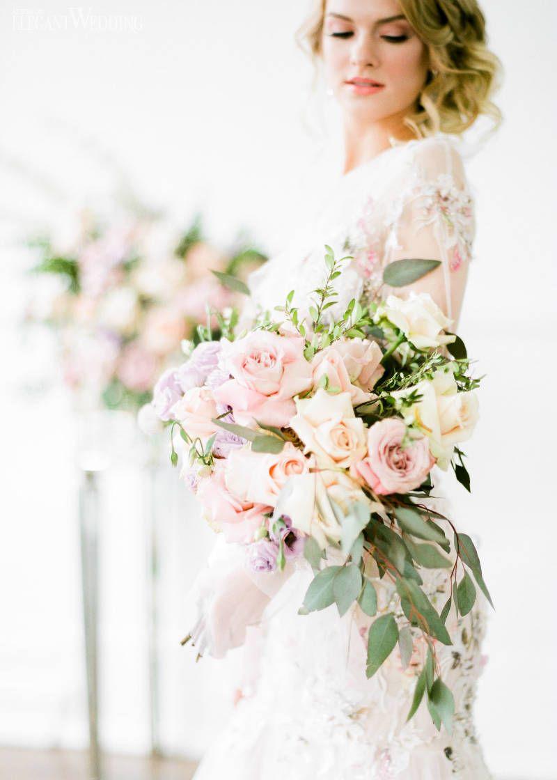 Romantic Garden Pastel Wedding Theme | Pinterest | Peach bouquet ...