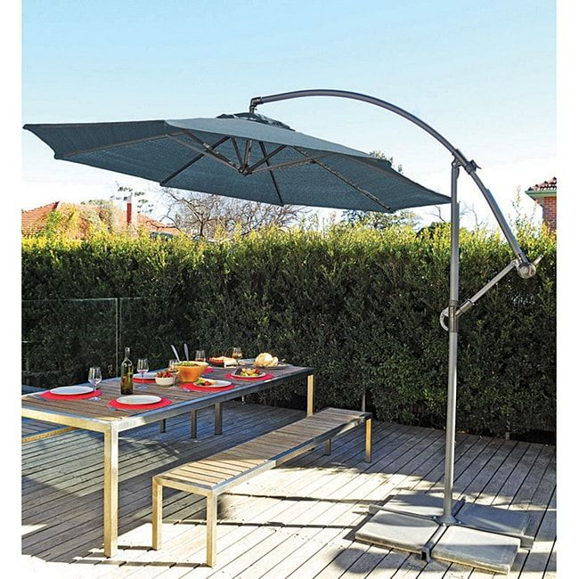 Pacific Gale Pac 10 Foot Storm Blue Cantilever Umbrella Gale Pac