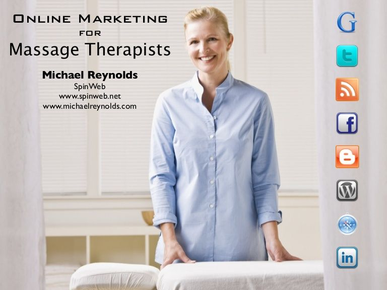 Online marketing for massage therapists by michael