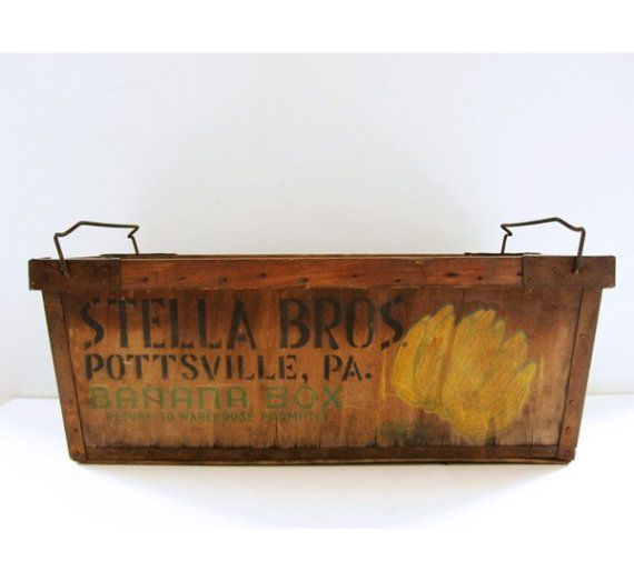 vintage wooden banana crate | Vintage Banana Crate by luckylittledot on Etsy