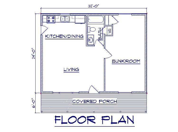 Http Www Bernardbuilding Com Packages 24x32 20ranch 20cabin 24x30 20cabin 20floor 20plan Jpg Cabin Floor Plans One Room Cabins Cabin Plans