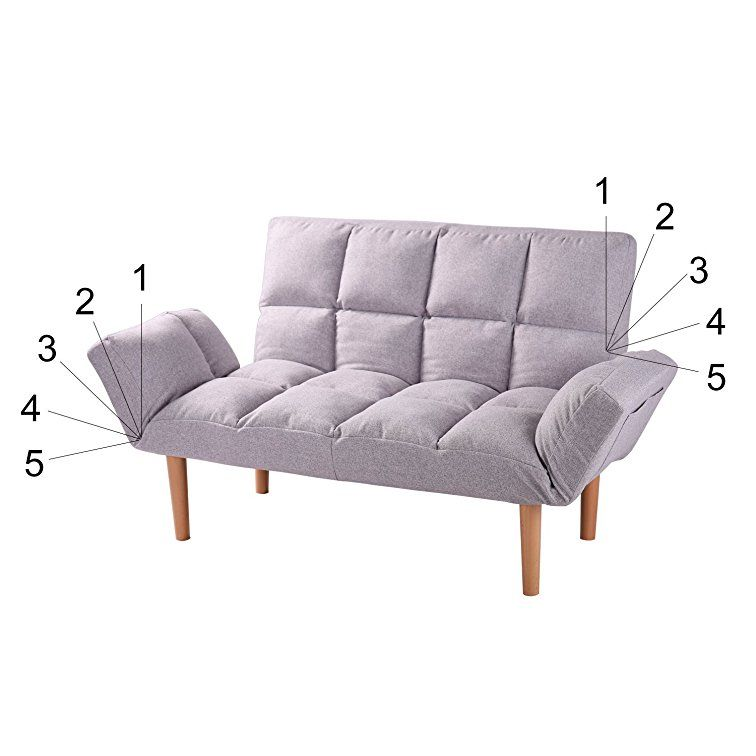 Amazon Com Blue Small Convertible Futon Sofa Loveseat Folding Futon Couch With Wood Legs And Two Pillows Qvb Sofa Bed With Chaise Loveseat Sofa Bed Love Seat