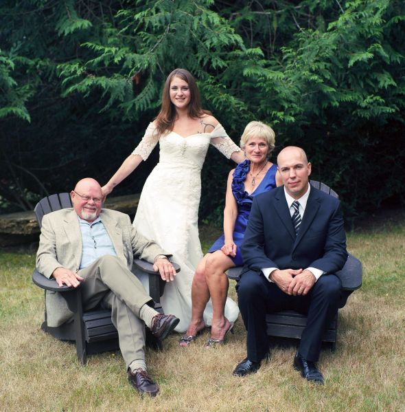 Small Family Wedding Ideas: Good Family Poses? : Wedding Family Photographer Poses