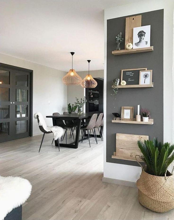 Cute design idea for wall in kitchen. Love the basket plant,  #Basket #Cute #cutehomedecorati... #apartmentsinnice