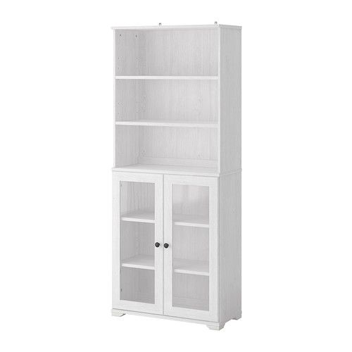 BORGSJÖ Bookcase with glass doors IKEA With a glass-door cabinet ...