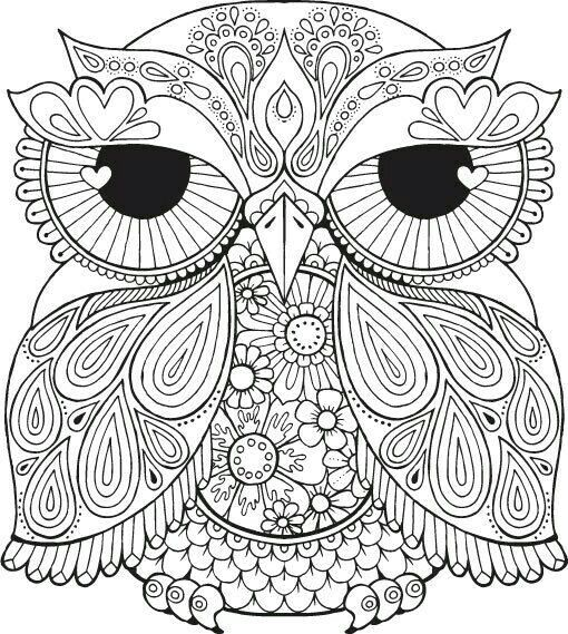 Pin By Lorrie Stroup On Color Therapy Owl Coloring Pages Coloring Pages Coloring Books