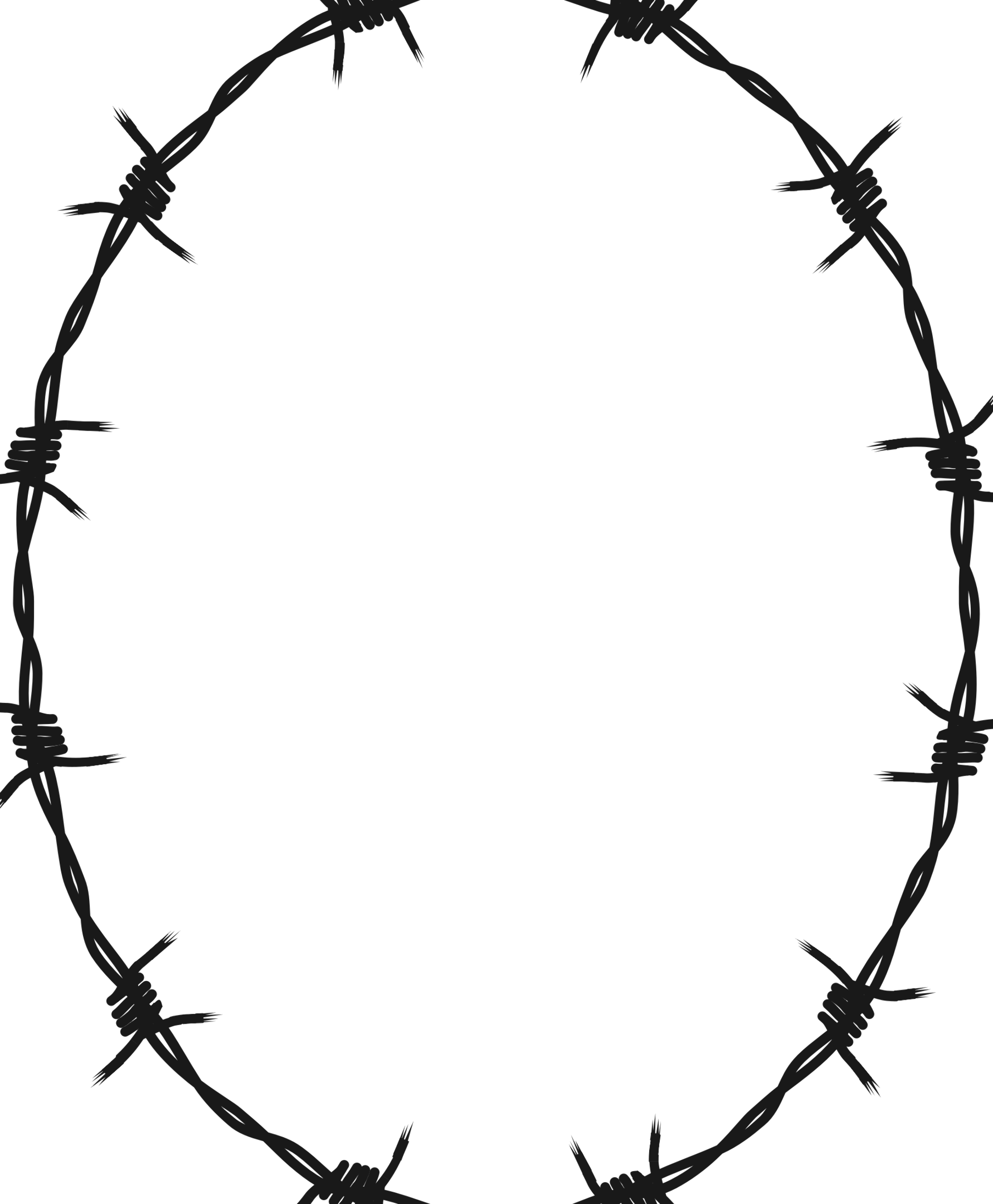 Barbed Wire Ellipse Frame Border By Gdj Barbed Wire Tattoos Barbed Wire Arm Drawing