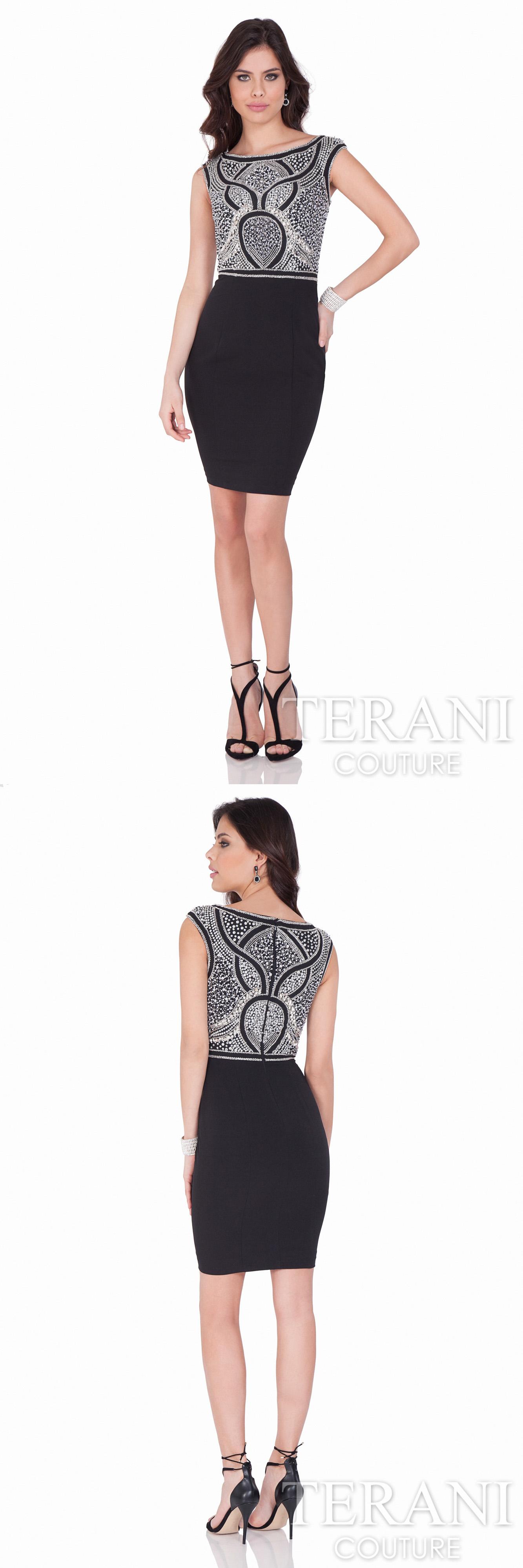 Schön Terani Couture Cocktailkleid Zeitgenössisch - Brautkleider ...