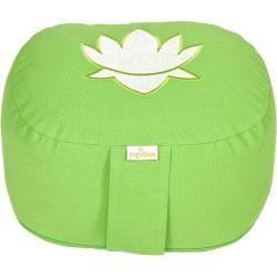 yoga yogakissen oval lotus stick basic apfelgrün yogabox