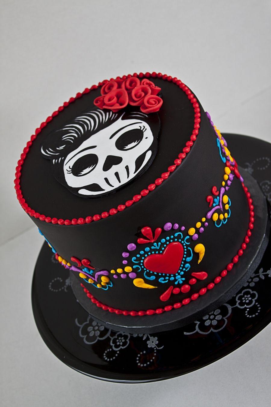 Dia De Los Muertos Birthday Cake Dia De Los Muertos Birthday Cake A ...
