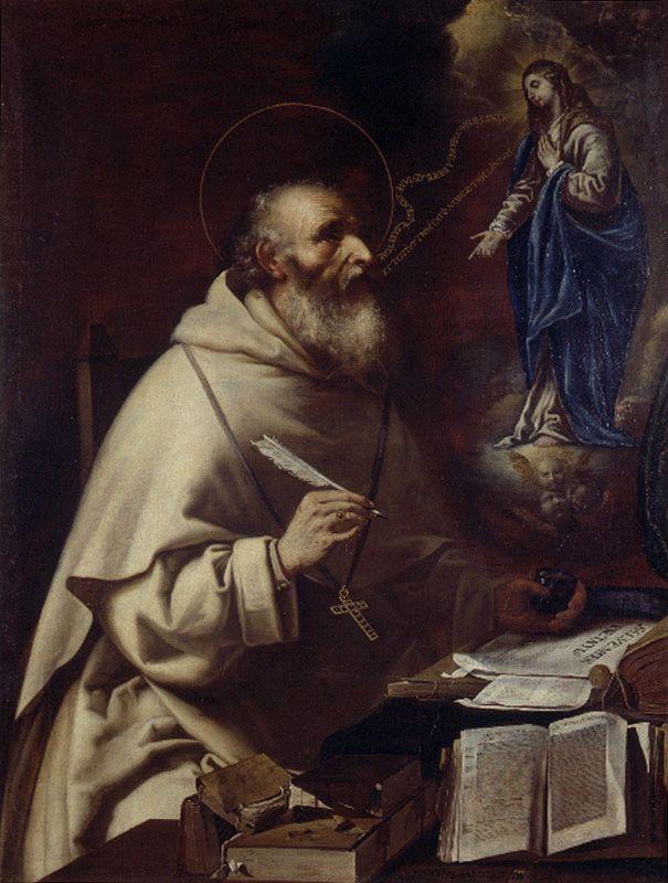 Aparición De La Virgen A San Alberto Magno H 1660