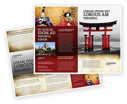 Ancient Japan Brochure Template for trip to Japan, Japan history ...