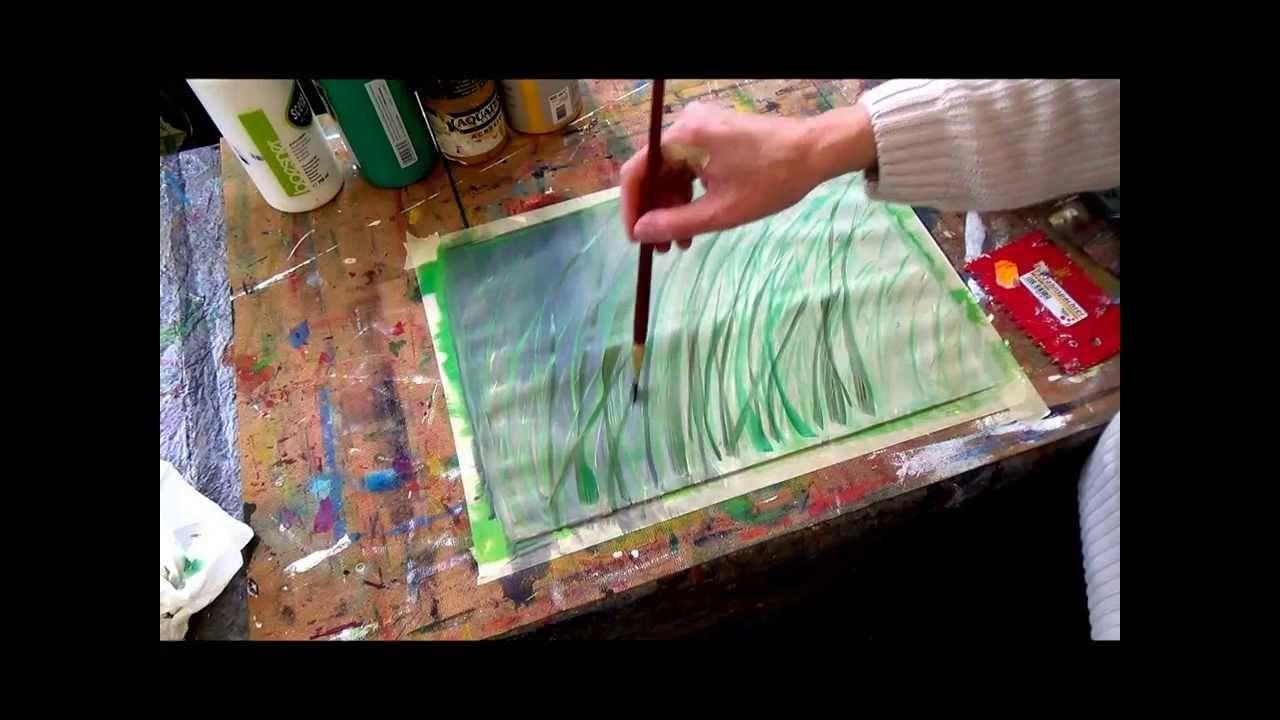 Acrylmalerei Techniken Strukturen Kratztechnik Acrylmalerei Techniken Acrylmalerei Malen Mit Acrylfarben