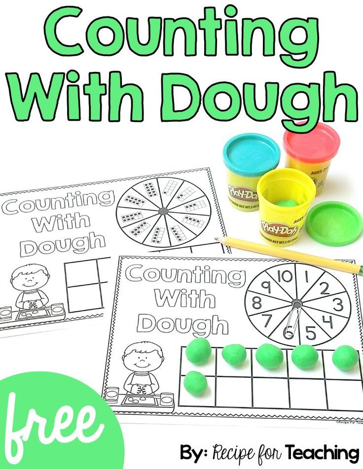 FREE Counting With Dough Math activities, Preschool math