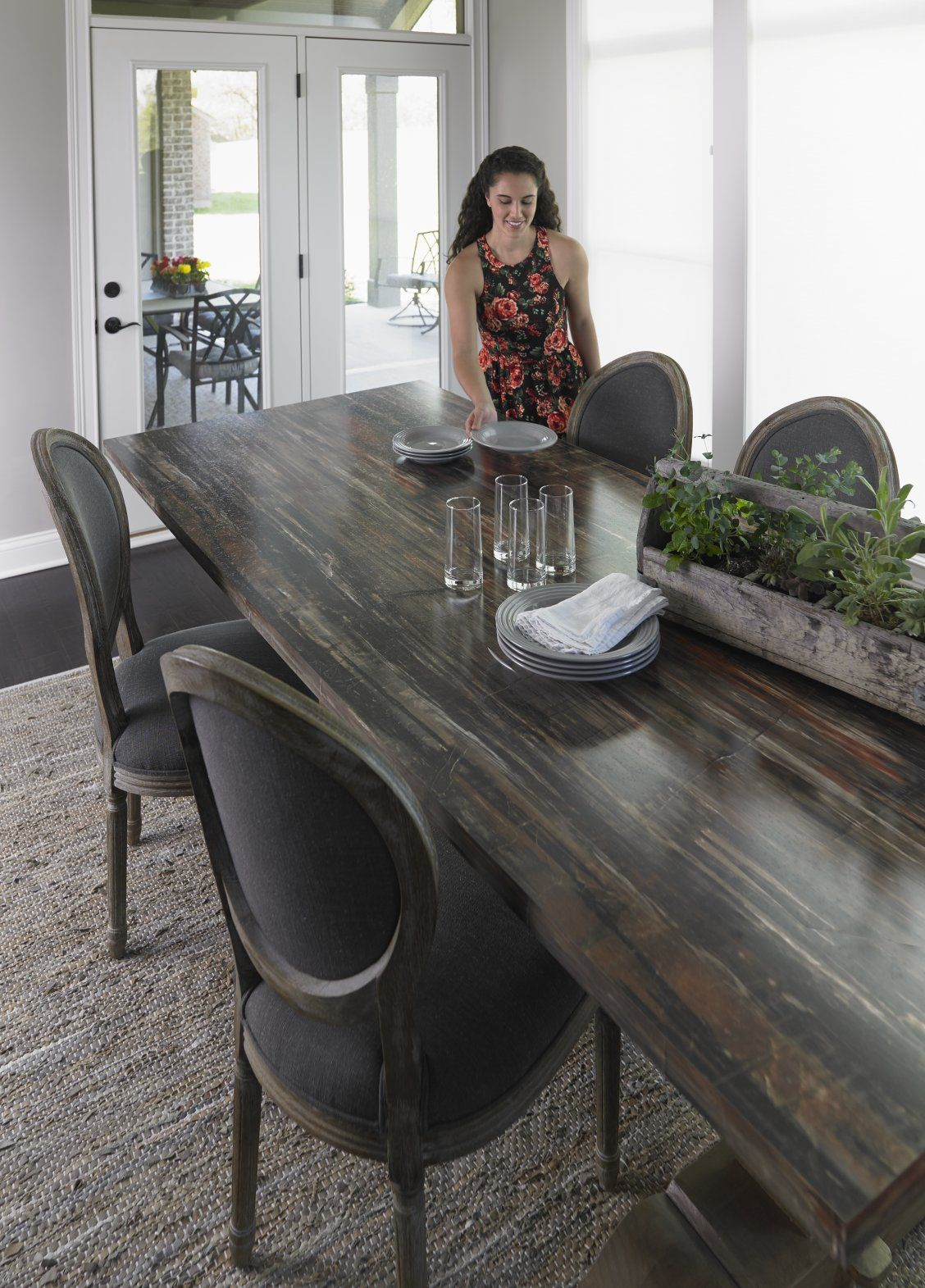 Dining Room With 180fx Laminate Petrified Wood Dining Room Table Click Through To Get A Free Sample Of Petrifie Wood Dining Room Table Wood Dining Room 180fx