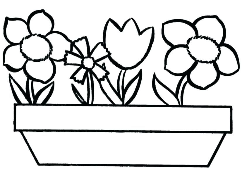 Flower Pot Coloring Pages Best Coloring Pages For Kids Spring Coloring Pages Free Coloring Pages Printable Flower Coloring Pages