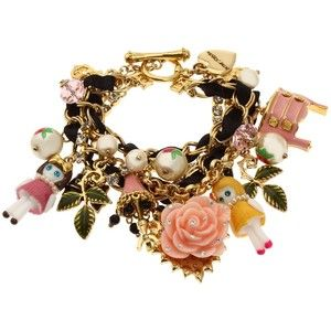 Betsey Johnson Jewelry S Dollhouse Toggle Charm Bracelet Multi Je