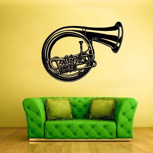 Wall Vinyl Sticker Decals Decor Art Bedroom Design Mural Music Notes Tube Jazz Audio (Z2600) StickersForLife http://www.amazon.com/dp/B00KD843KC/ref=cm_sw_r_pi_dp_qXTfvb0BGN80Q