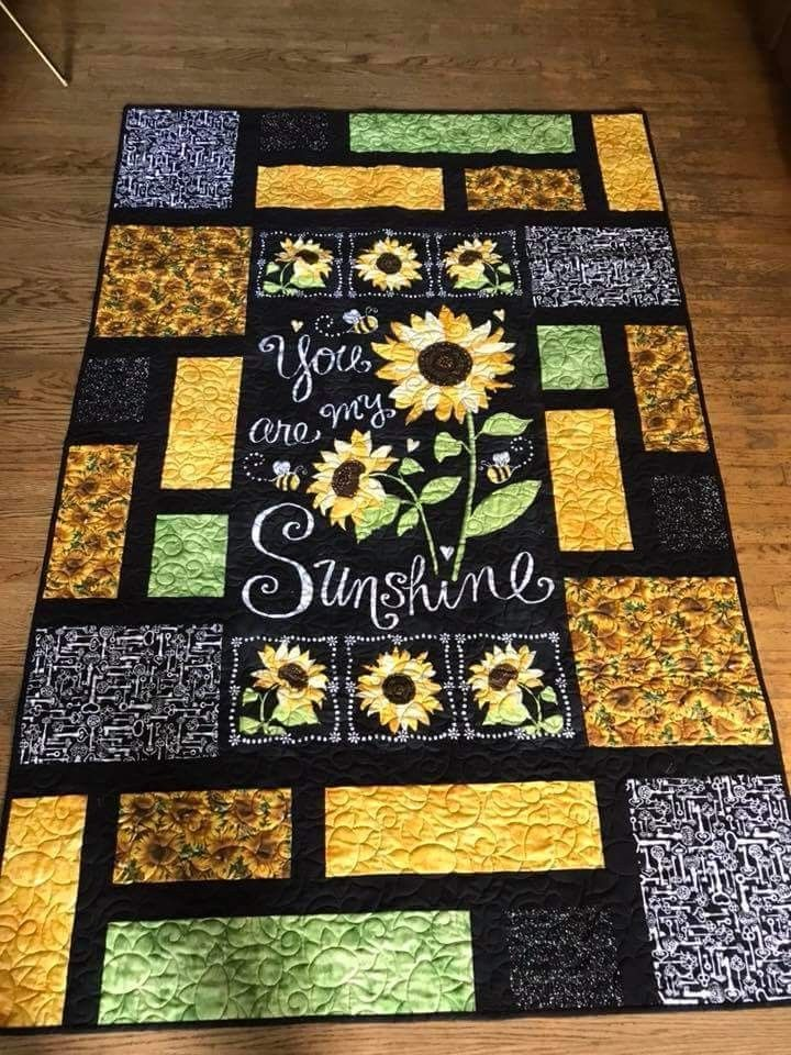 Pin By Deborah Alvo On Quilts Sunflower Quilts Fabric
