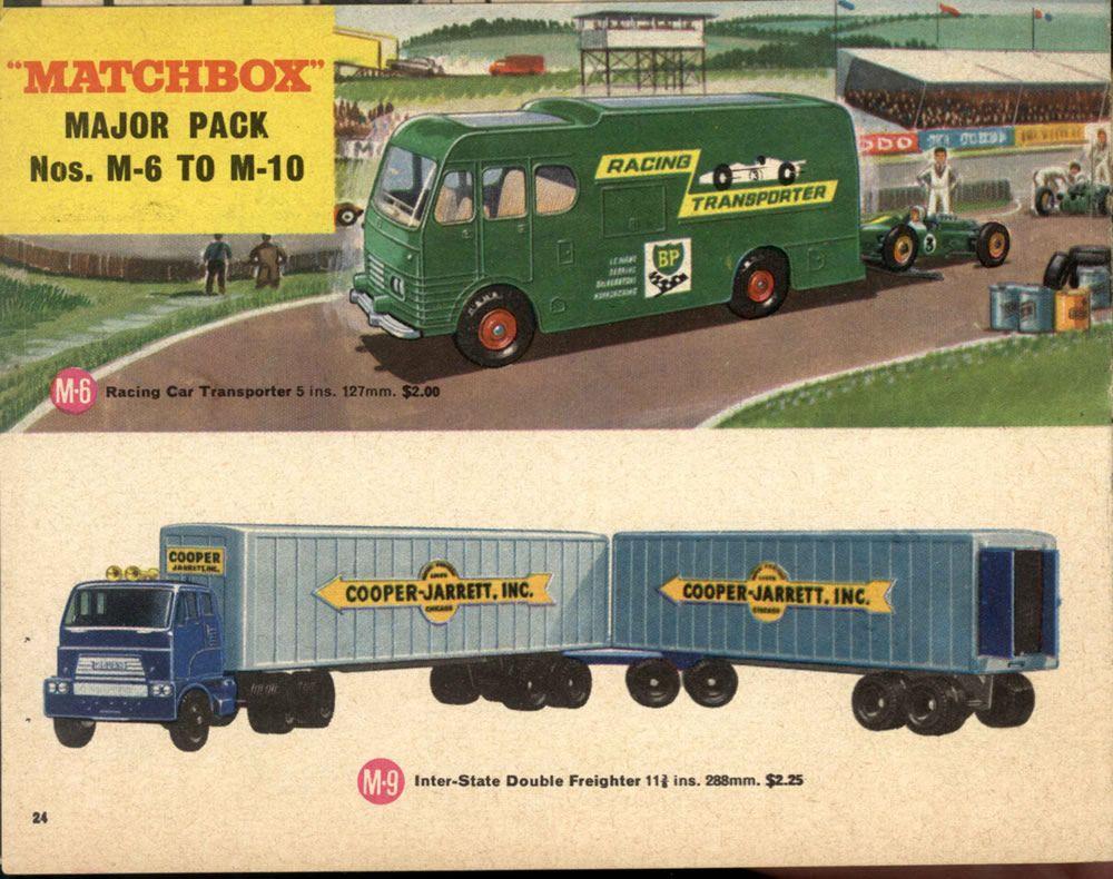 Matchbox Lesney 1966 Catalog Page 23 Major Packs M 6