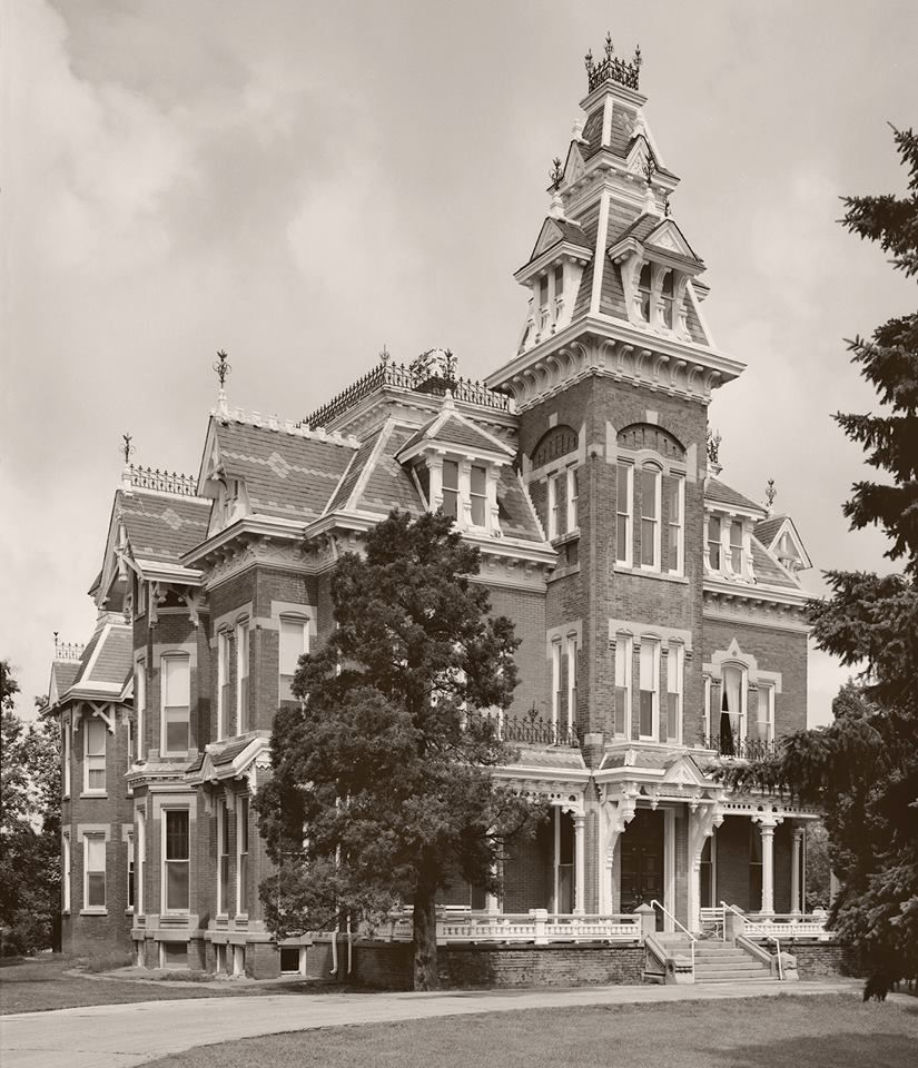 Located in Independence, Mo, this mansion is supposedly haunted by the original owners' wife, Mrs. Vaile Who overdosed on morphine when she thought her husband was going to go to jail. She has been seen looking out the windows. What is really interesting is that Mr. Vaile, grieving the loss of his wife, had her placed in a glass coffin on the front lawn. Neighbors complained and he was forced to have her buried underground.