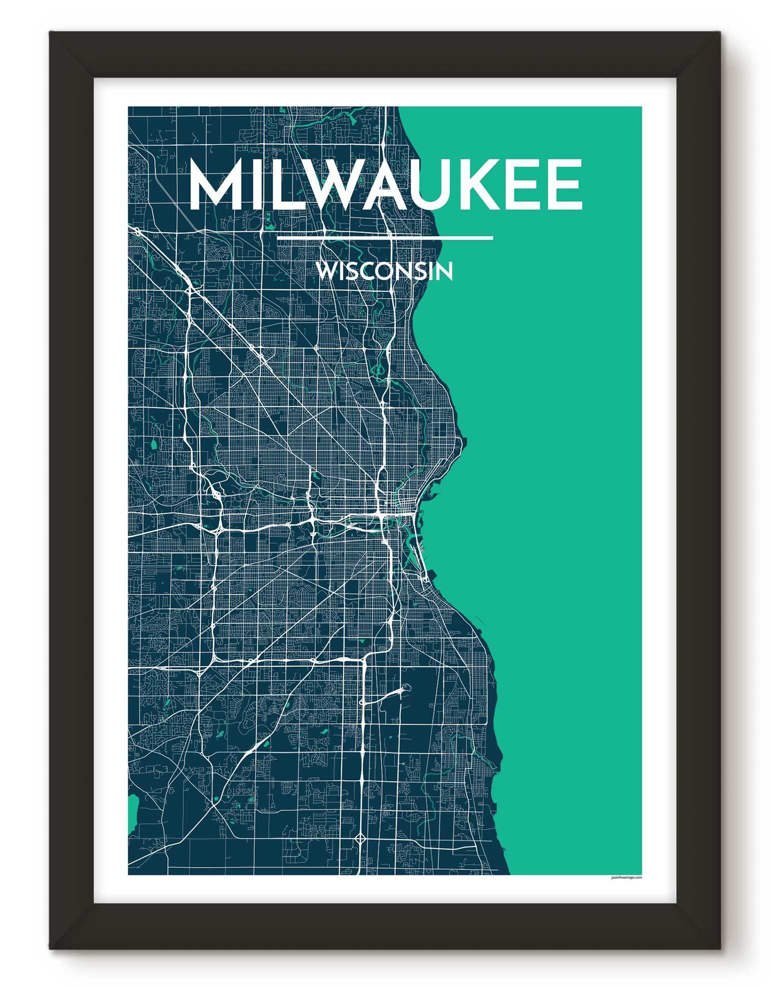 Milwaukee City Map   Products   Pinterest   Milwaukee city, City ...