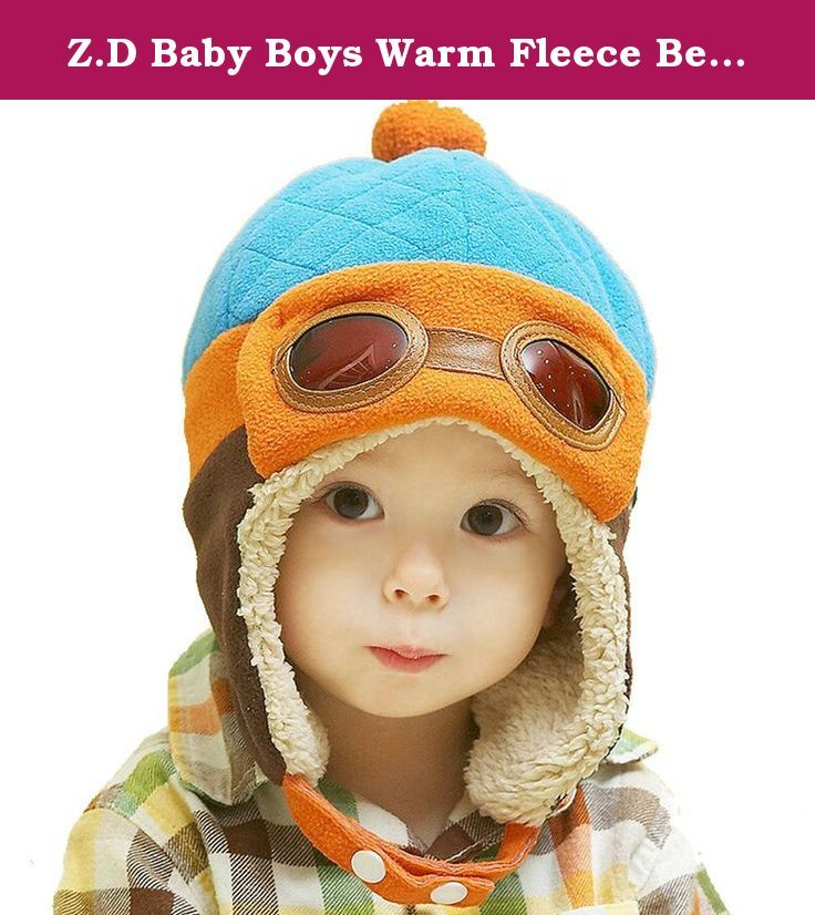 d23a104b762 Z.D Baby Boys Warm Fleece Beanie Pilot Hat Aviator Thick Earflap Warm  Winter Cap. Unisex baby winter Aviator Crochet Earflap Warm Winter Cap.Very  soft while ...