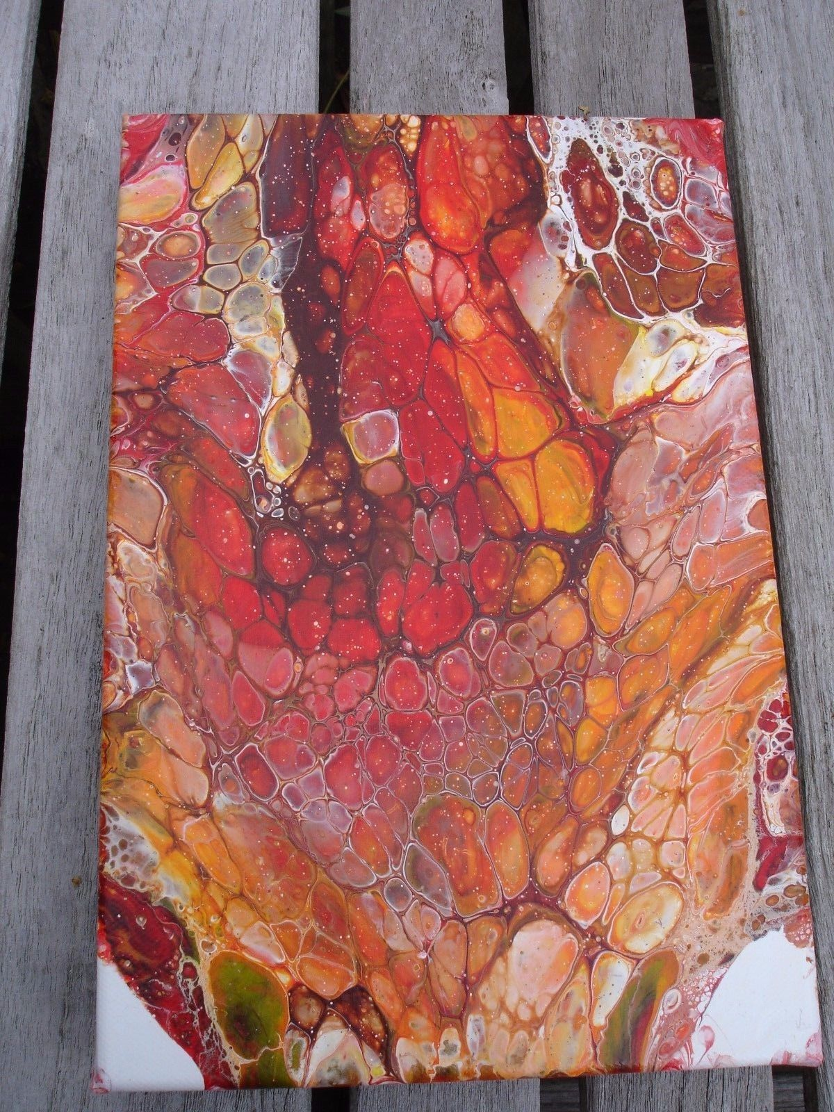 Lovely original abstract acrylic fluid painting