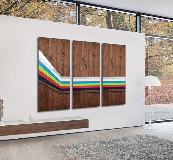 Multi Panel Art Modern Art Wood Wall Art By Lauraashleywoodart Wood Wall Art Decor Wood Wall Art Diy Large Modern Wall Art
