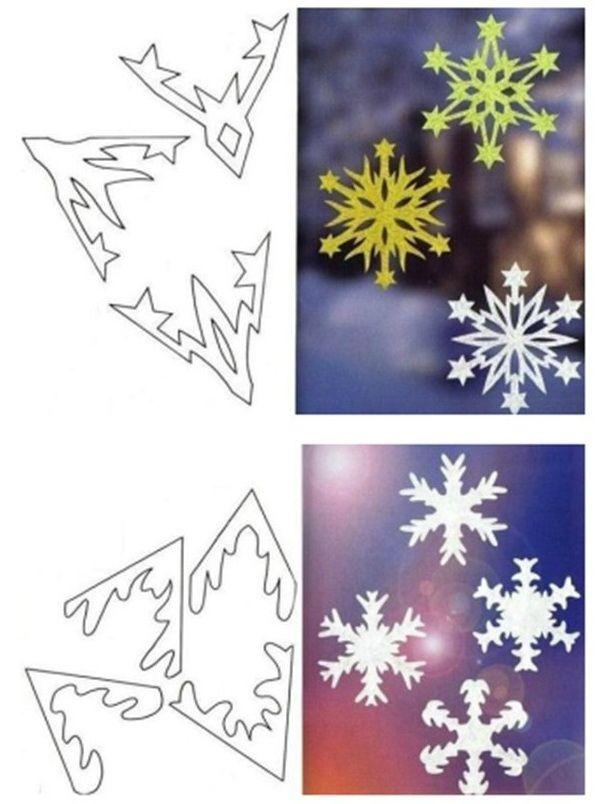 Des Flocons De Neige En Papier A Decouper Bricolage Noel Idees De Bricolage Et Noel