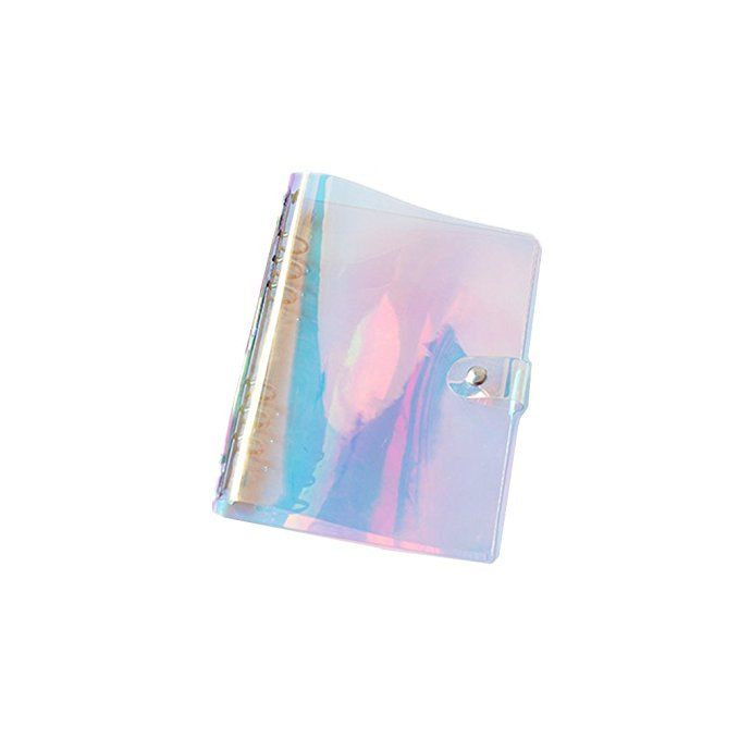A5 6-ring Rainbow Binder Covers Colorful Clear Soft PVC