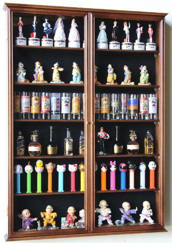 Amazon Com Xl Shot Glass Display Case Rack Holder Cabinet