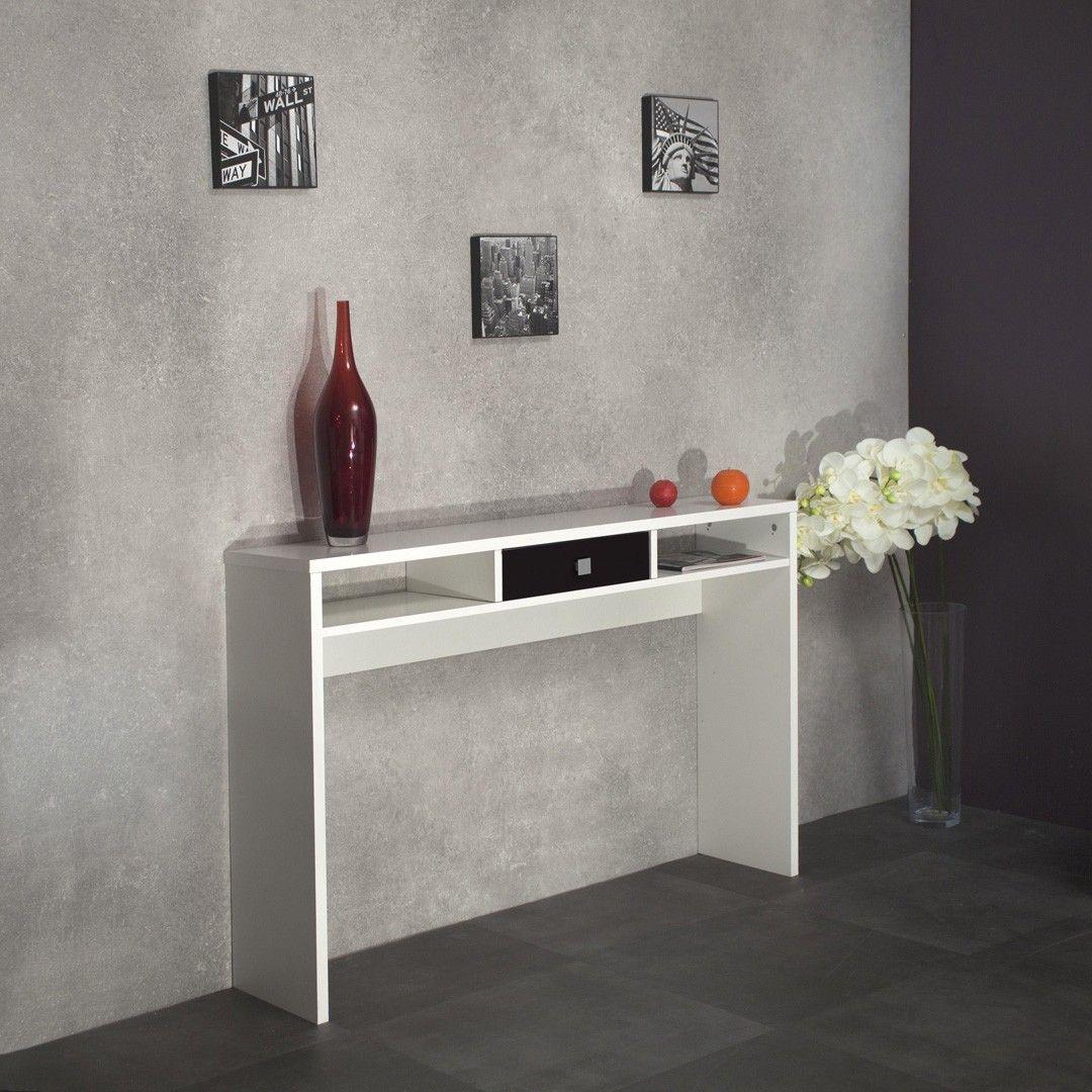 console contemporaine blanche et noire alrik console entree meuble d 39 entr e en 2019. Black Bedroom Furniture Sets. Home Design Ideas