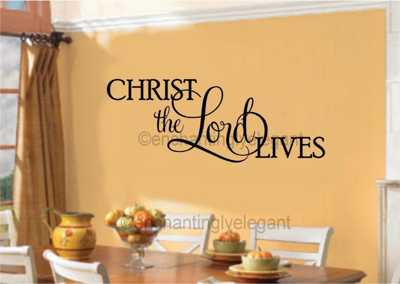 Christ the Lord Lives Vinyl Decal Wall Sticker Easter Christian ...
