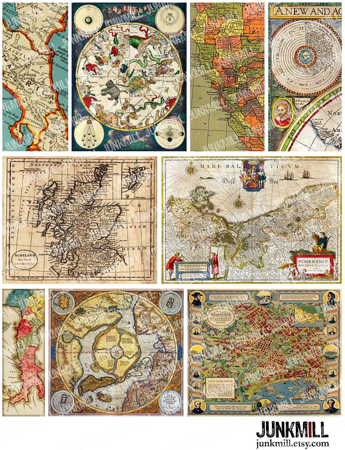 Antique maps vintage star charts and maps of italy france antique maps vintage star charts and maps of italy france australia scotland gumiabroncs Image collections