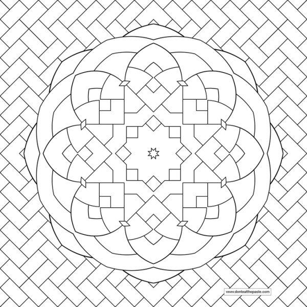 Diseño en espiga Mandala de la flor, mandala de la flor de imagen a ...