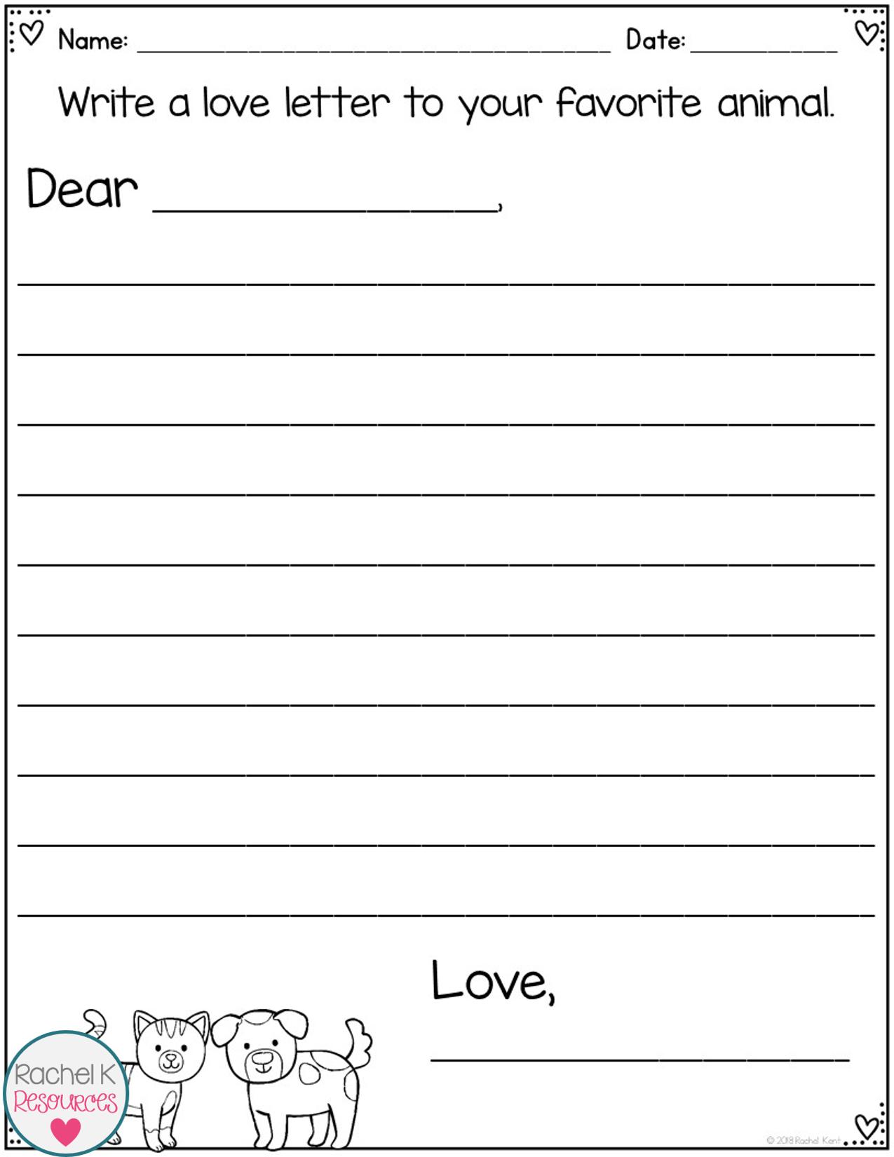 Valentine's Day Writing Activities Writing activities