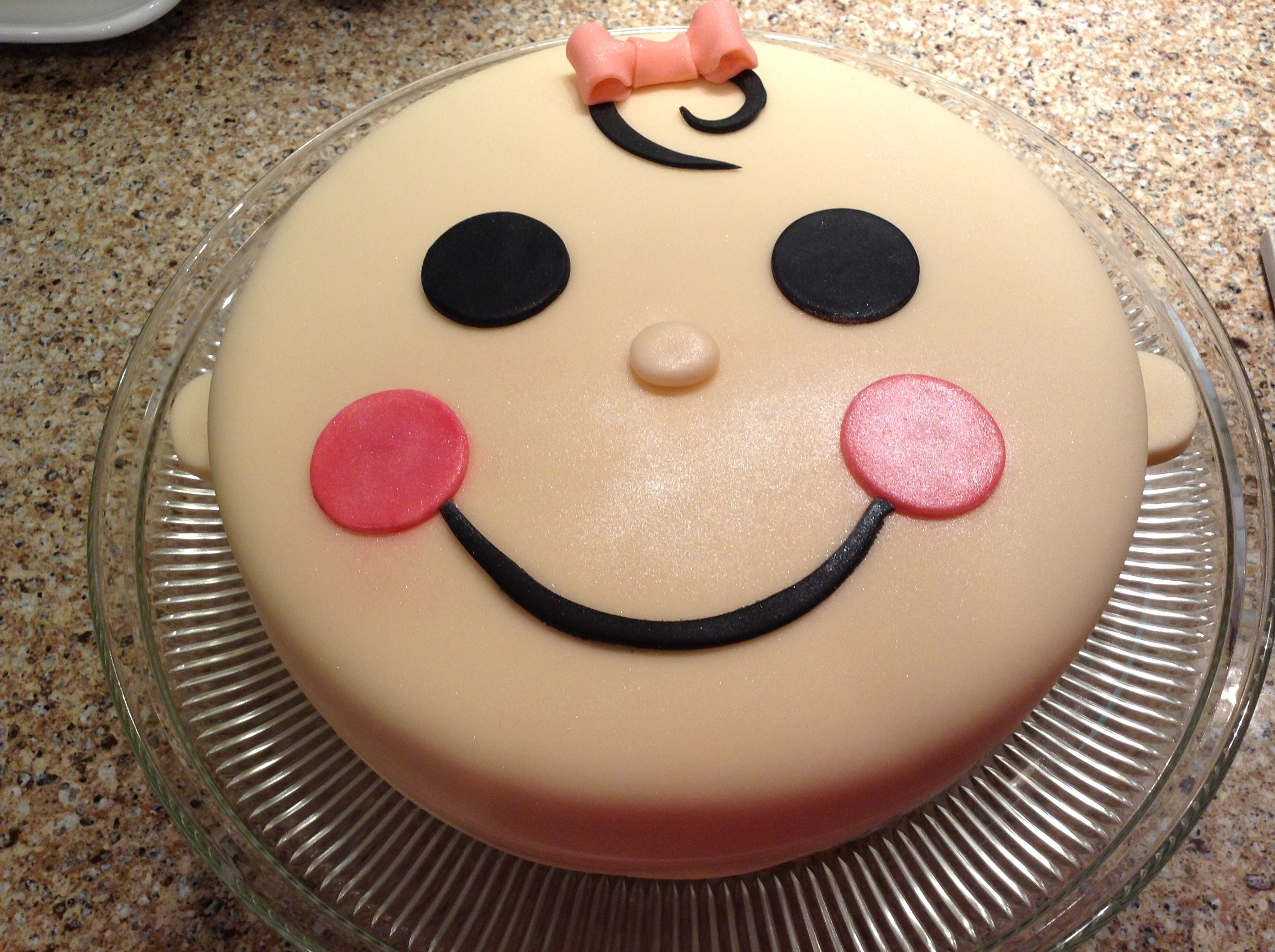 Cute easy baby face cake made by valerie o 39 cakes cakes for Cute simple cakes