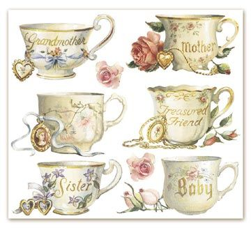 Tazas de te vintage pinterest laminas teteras y for Tazas de te estilo vintage