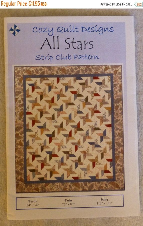 Clearance SALE Pattern, All Stars by Cozy Quilt Designs, for 2 1/2 ... : pretty quilts for sale - Adamdwight.com