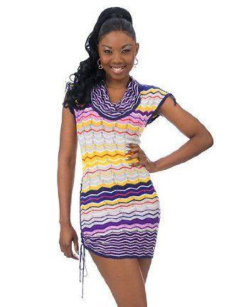 Apple Bottoms Missoni Stripe Sweater Dress