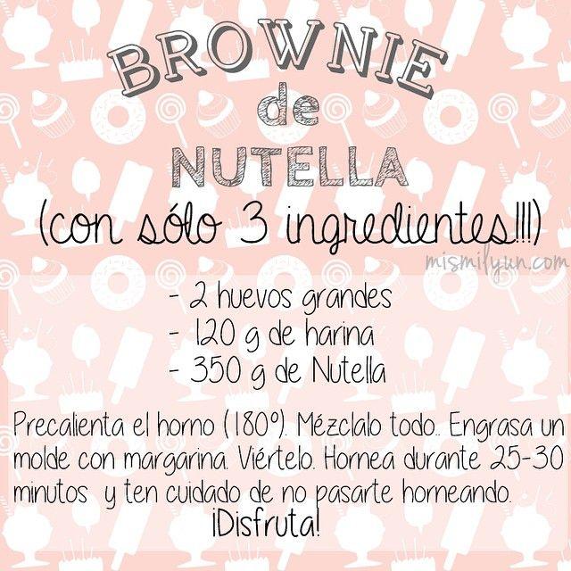 Brownie de Nutella más que fácil