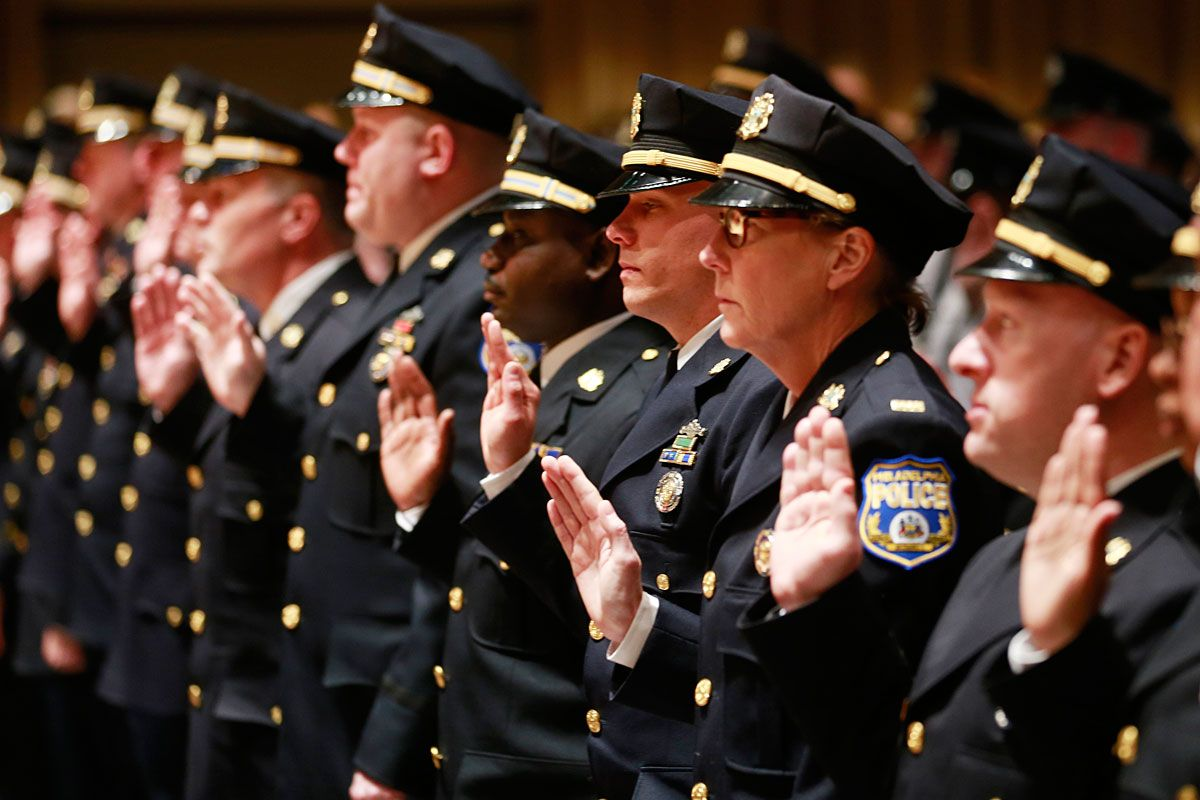 126 Phila Cops Including A Once Fired Officer Get Promotions Officer Police Officer Promotion