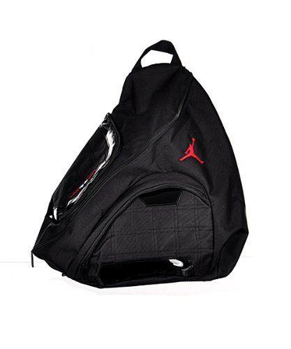Nike Jordan Jumpman Sling Black Patent Red Zipper Book-Bag BackPack  Men Women by Jordan 8916dbb822dc1