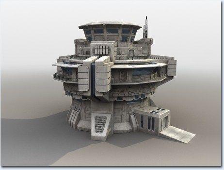 futuristic military base 3ds 6 0 imgm jpg 3d sci fi building