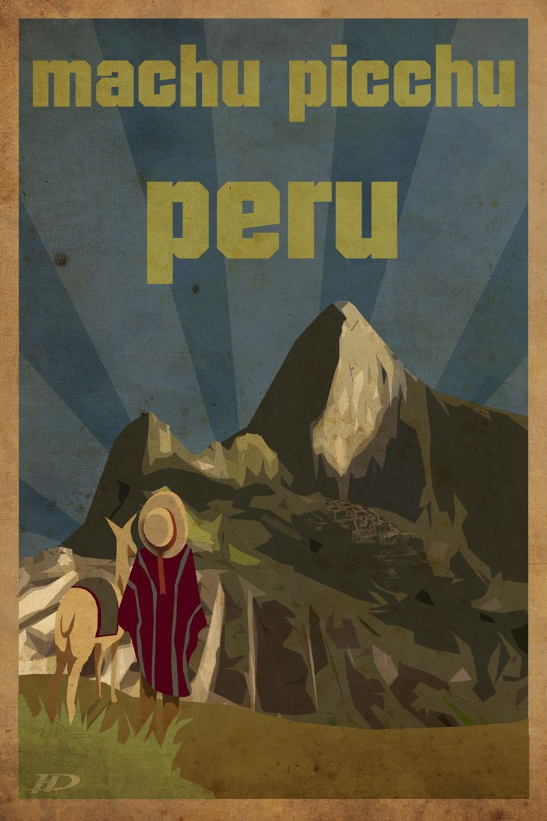 peru machu picchu design by dennie posters