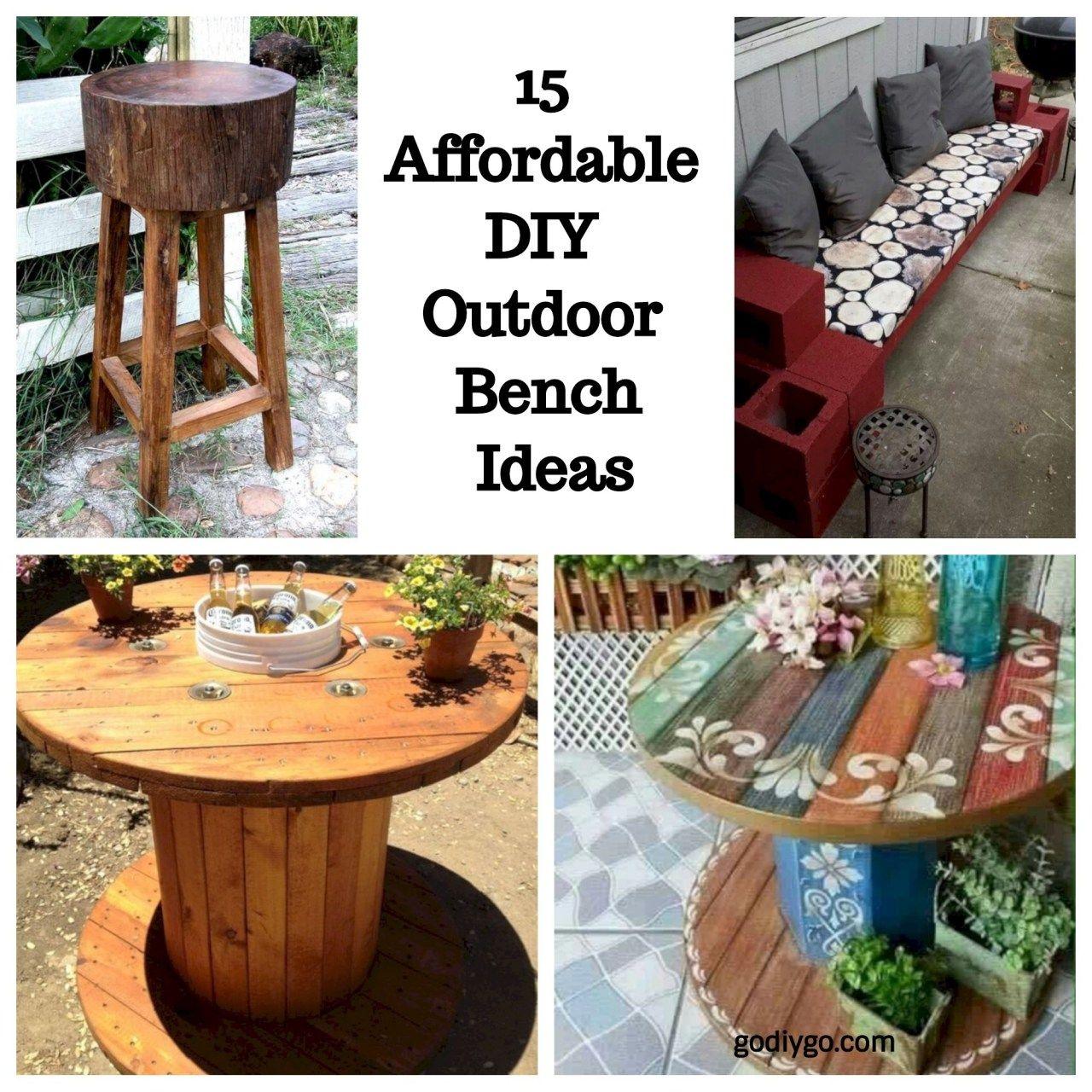 15 Affordable DIY Outdoor Bench Ideas Diy