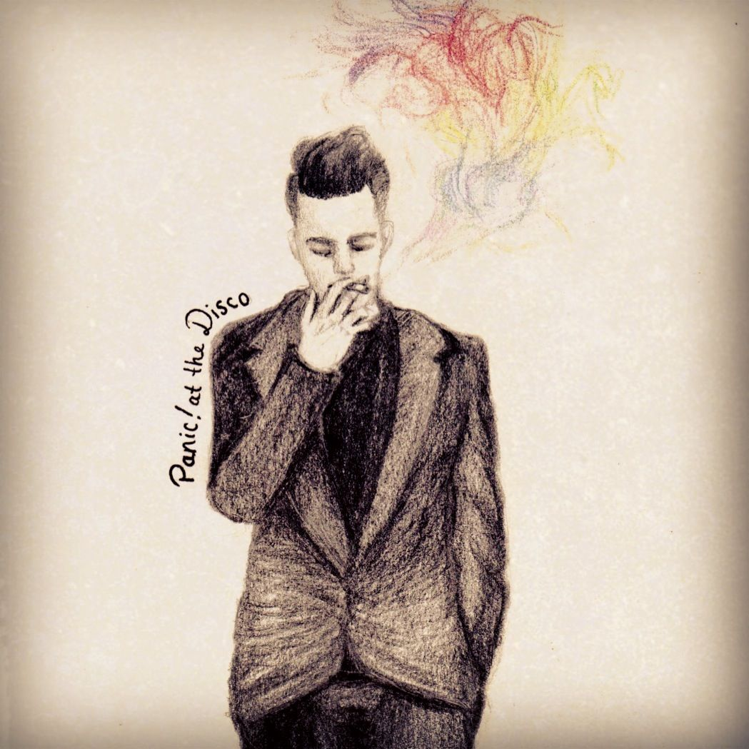 Panic At The Disco Album Cover Drawing Medium Colored Pencils Musical Band Panic At The Disco Album Covers