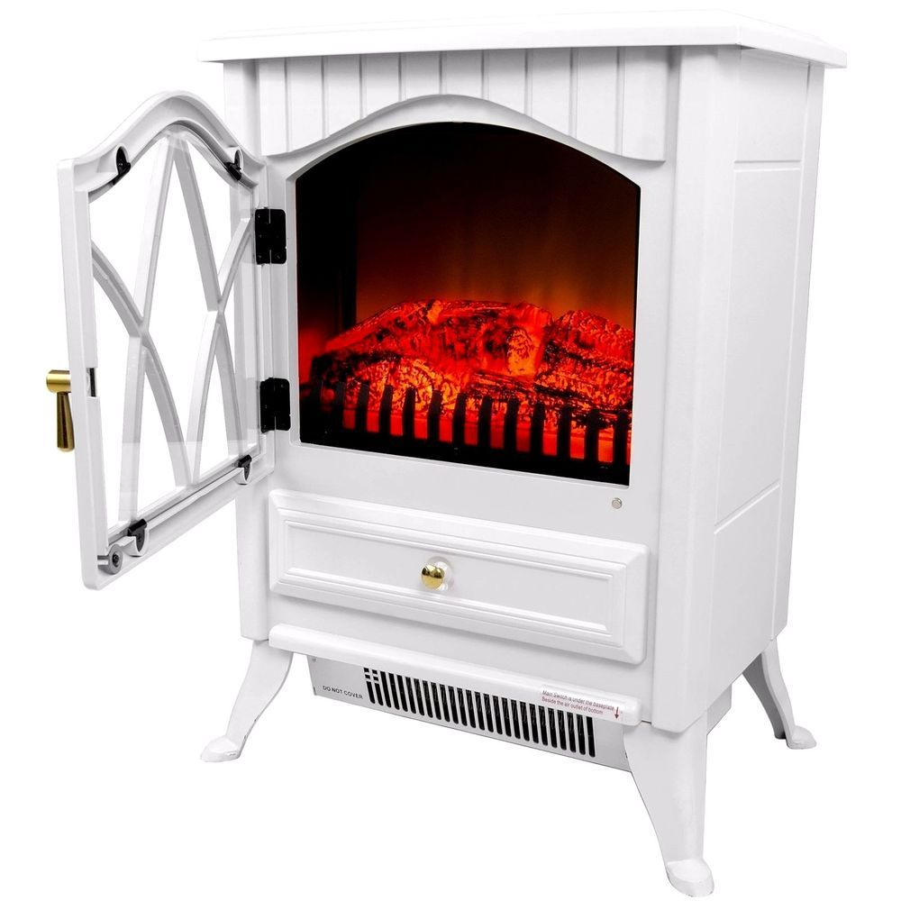 "#Vintage #Electric #Stove #Heater #Fireplace 16"" Retro-Style Floor Freestanding NEW"